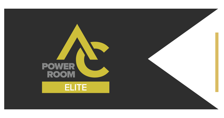 AC Power Room Brand Ribbon PR Business Elite Left